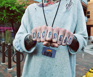 tattoo, drop dead, and oliver sykes image