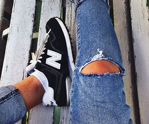 fashion, new balance, and jeans image