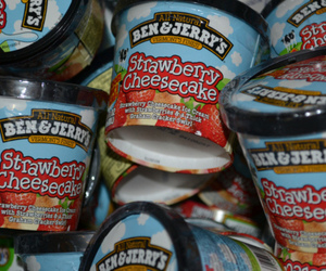 ben and jerrys and strawberry cheesecake image