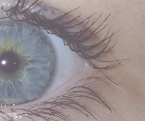eye, blue, and pale image