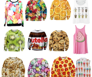 candy, clothes, and ice cream image