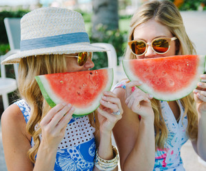 friends, watermelon, and summer image