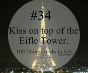 paris, eifle tower, and kiss image