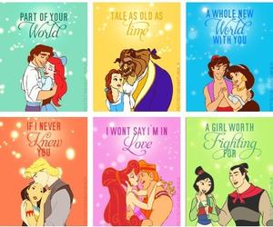 disney, princess, and prince image