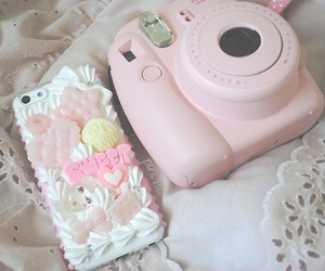 pink, camera, and iphone image