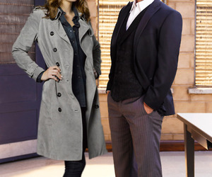 beckett, castle, and nathan fillion image