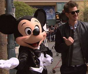 andrew garfield and mickey mouse image
