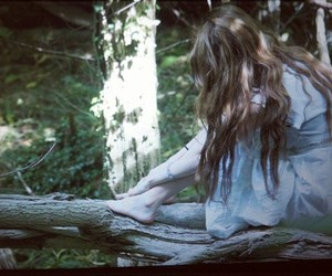 dark, forest, and girl image