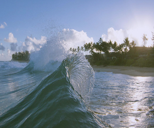 summer, waves, and sea image