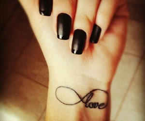 love, tattoo, and nails image