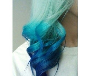 blue and hair image