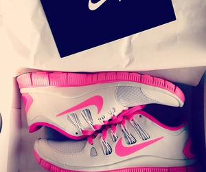 fitness, nike, and shoes image