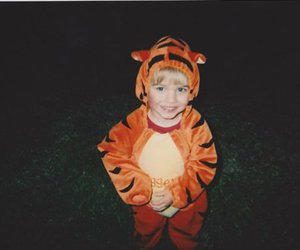 cute, tiger, and boy image