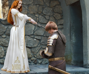 edmund leighton, armstreet, and l'adoubement image
