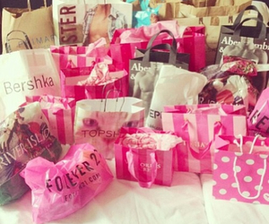shopping, pink, and hollister image