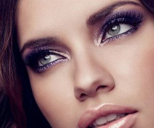 Adriana Lima, makeup, and eyes image