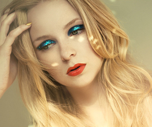 blond, make up, and eyeshadow image