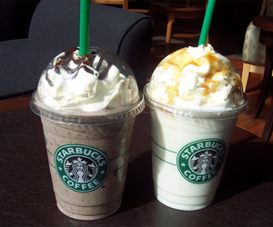 caramel, starbucks, and nuts image