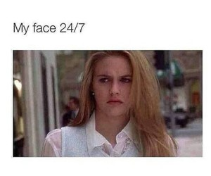 funny, Clueless, and face image