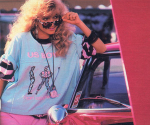 80s and girl image