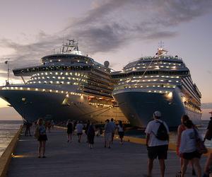 ship, luxury, and sky image