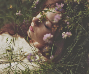 fields, flowers, and hipster image
