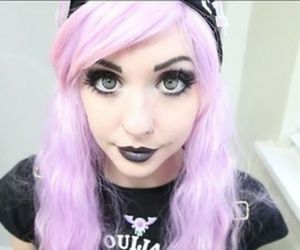 purple, goth, and pastel goth image