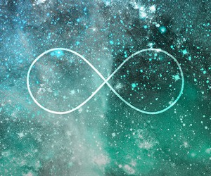 forever, galaxy, and infinity image