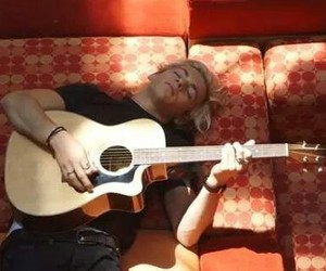 guitar, sleeping, and r5 image