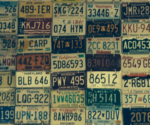 collecting, license plate, and usa image
