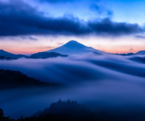 clouds and mountains image