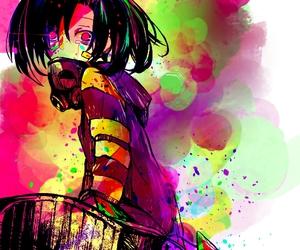 anime, art, and gas mask image
