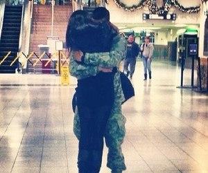 couple, hug, and boy image