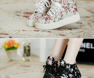 shoes, style, and flowers image