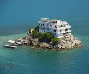 house, Island, and beautiful image