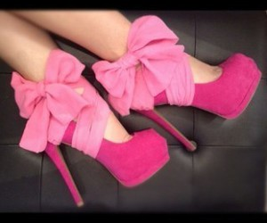 high heels, shoes, and pink image