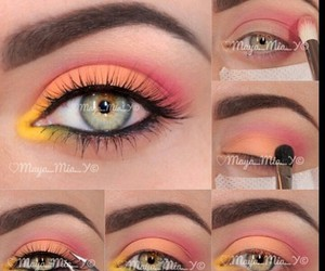 eyes, makeup, and color image