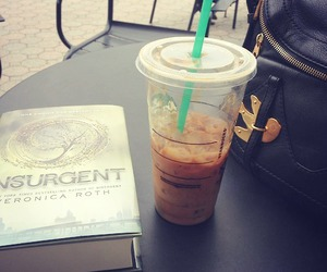 book, starbucks, and trilogy image