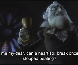corpse bride, heart, and quote image