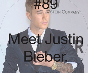 justin bieber, 89, and 100 things to do in life image