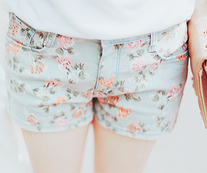 fashion, floral, and shorts image