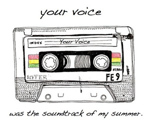 music, summer, and voice image