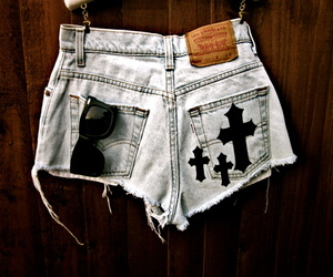 fashion, shorts, and cross image