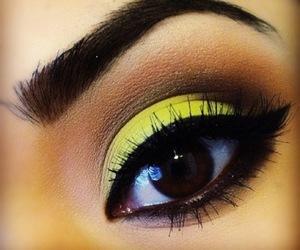 makeup, yellow, and make up image