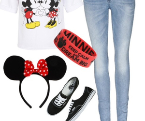 disneyland, fashiom, and outfit image