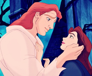 disney, kiss, and beauty and the beast image