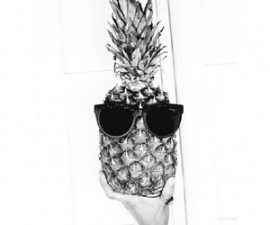 black, photography, and pineapple image