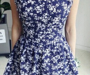 blue, dress, and girly image