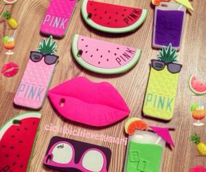 pink, summer, and iphone cases image