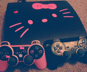hello kitty, pink, and game image